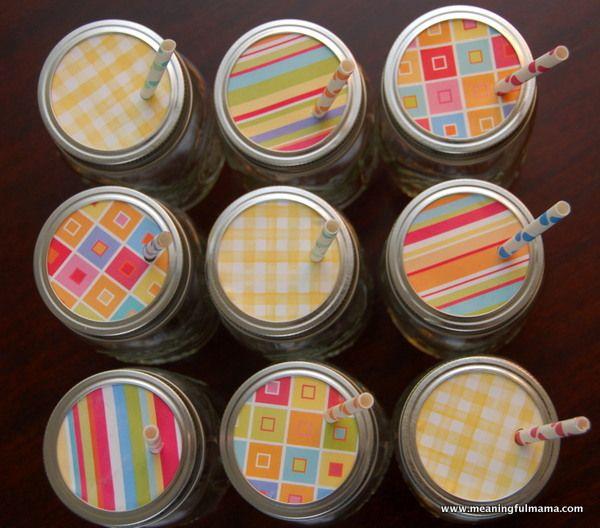 Decorative Mason Jar Lids With Cute Straws Diy Pinterest Mason Unique Decorative Lids For Canning Jars