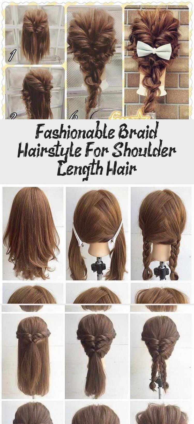 Fashionable Braid Hairstyle For Shoulder Length Hair Hairtutorialshoulderlength Bohemian Style Bohemian Braid Fashionable Hair Hairstyle Hairtutorial 2020