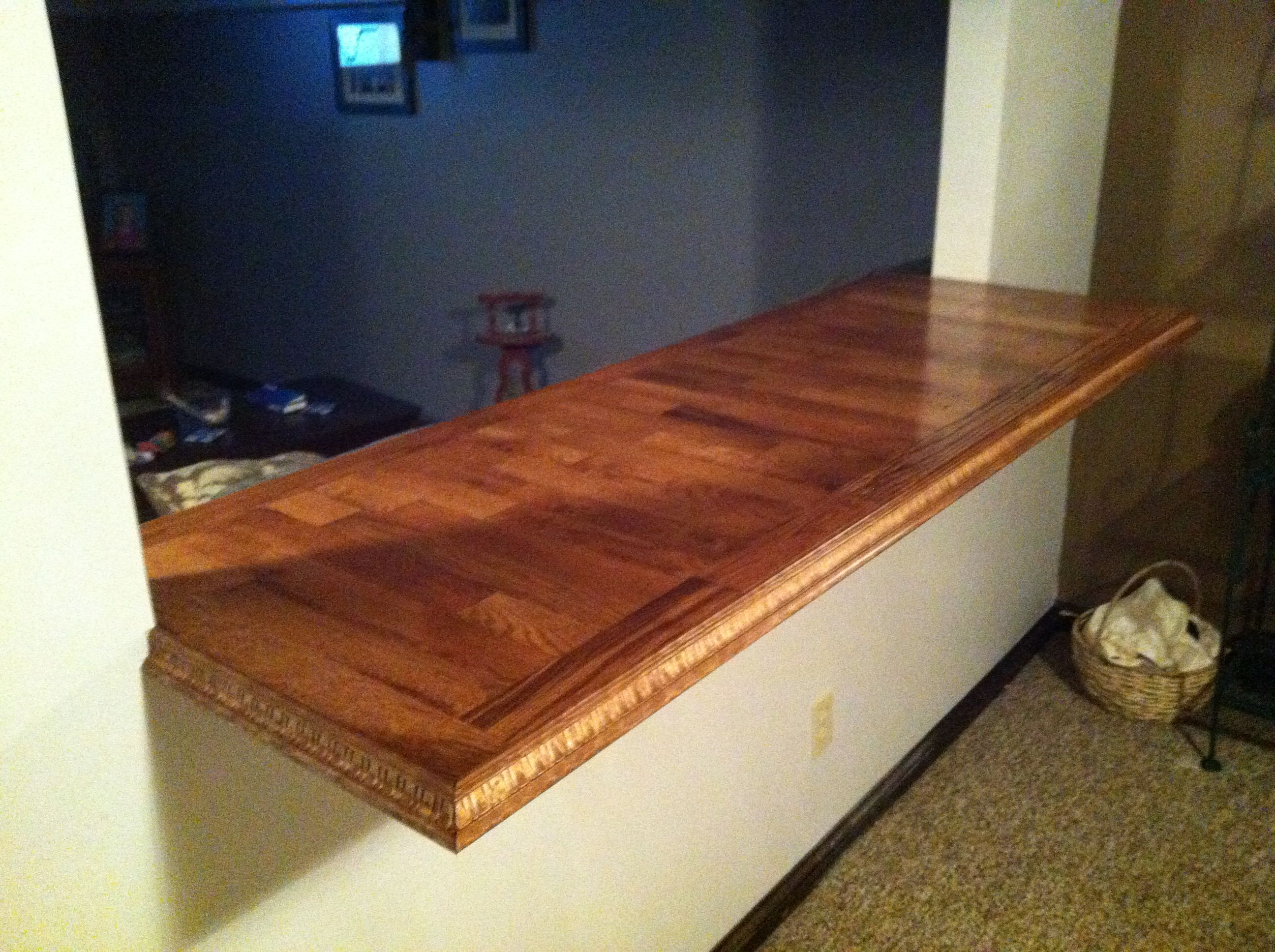Jw S Homemade Countertop Made From Left Over Flooring Hardwood