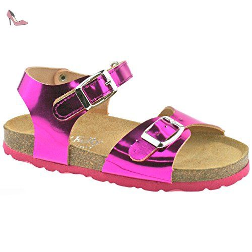 Para Comprar Barato Manchester En Venta Lelli Kelly LK4584 (CNA8) Fuxia Metallic Lara Adjustable Ankle Sandals-26 (UK 8) UX8WGQD