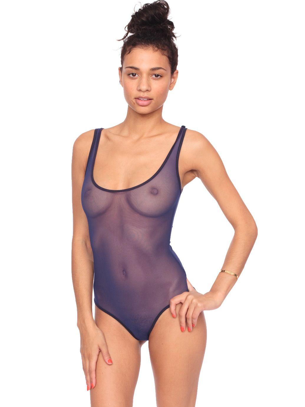 8d3431a4ea Nylon Spandex Micro-Mesh Bodysuit
