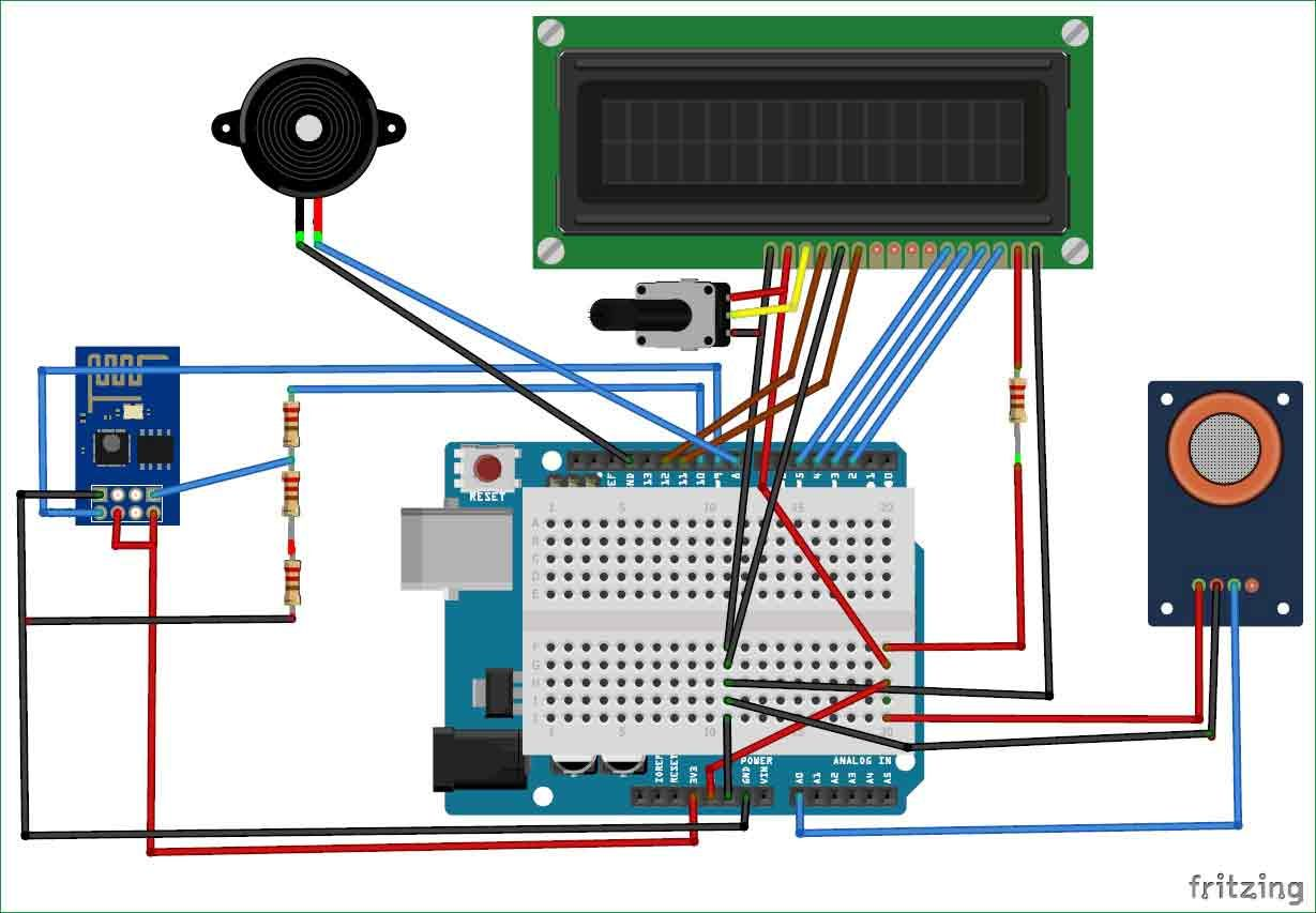 Iot Based Air Pollution Monitoring System Using Arduino Mq135 The Sensor We Will Use In This Circuit Is A Tcs3200 Color