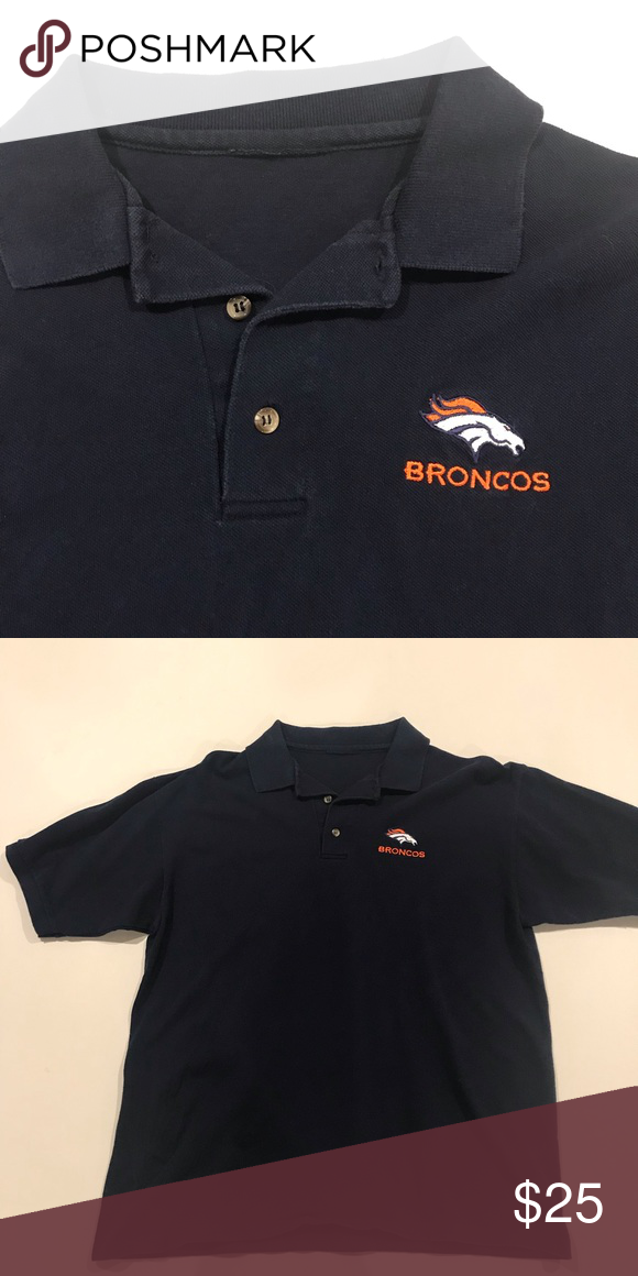 e13f0e39 BRONCOS polo Men's large Denver Broncos embroidered polo shirt. NFL ...