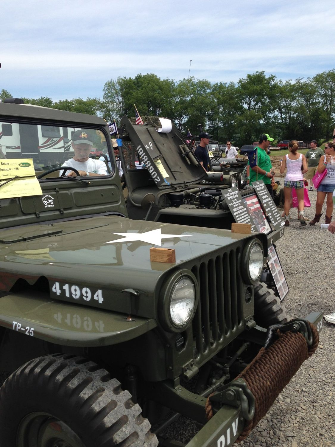 Military Jeeps on Display outside of history exhibition.