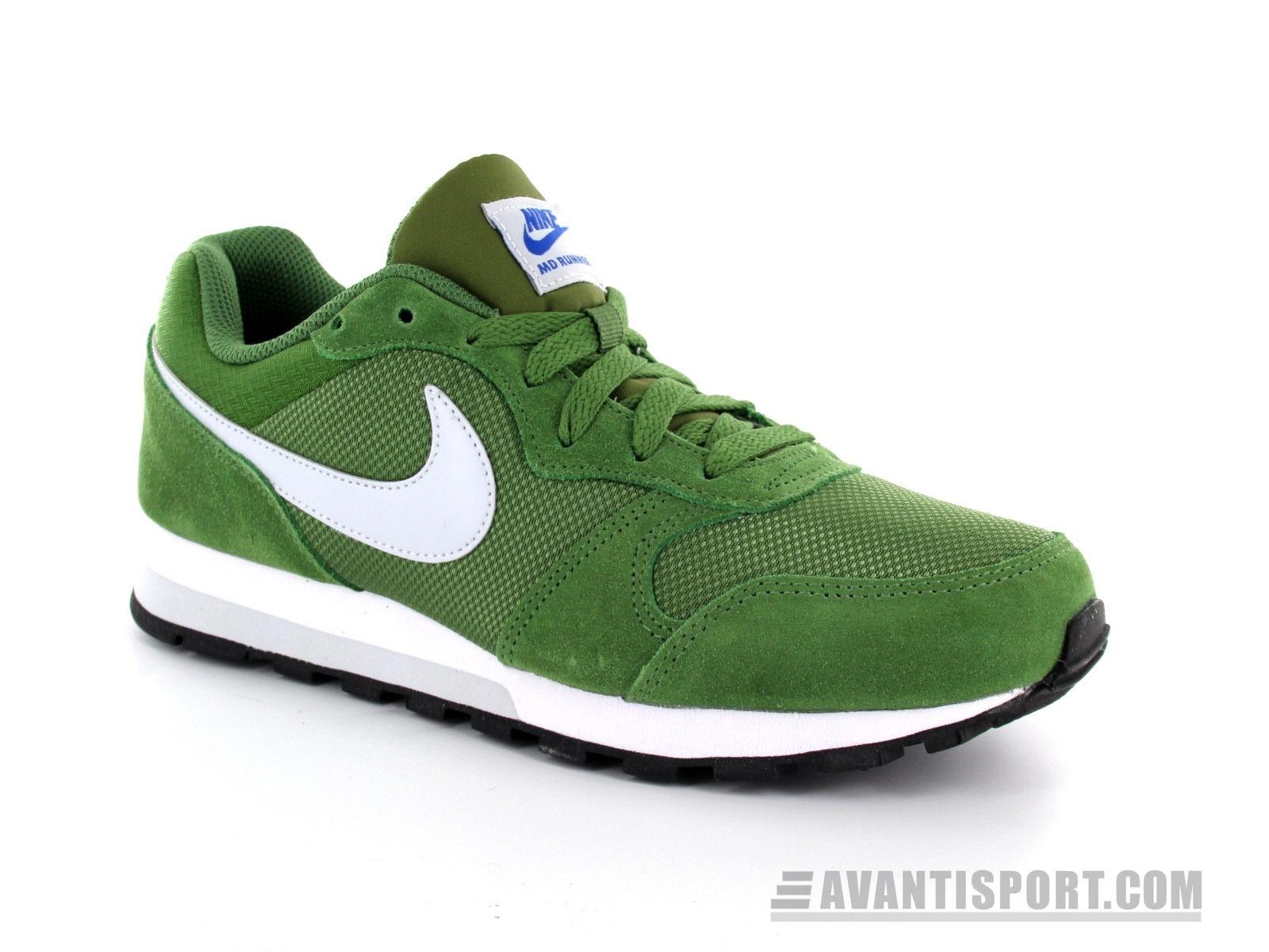 Nike - Wmns MD Runner 2 - Groene Sneaker | Sneaker, Suede, Nike