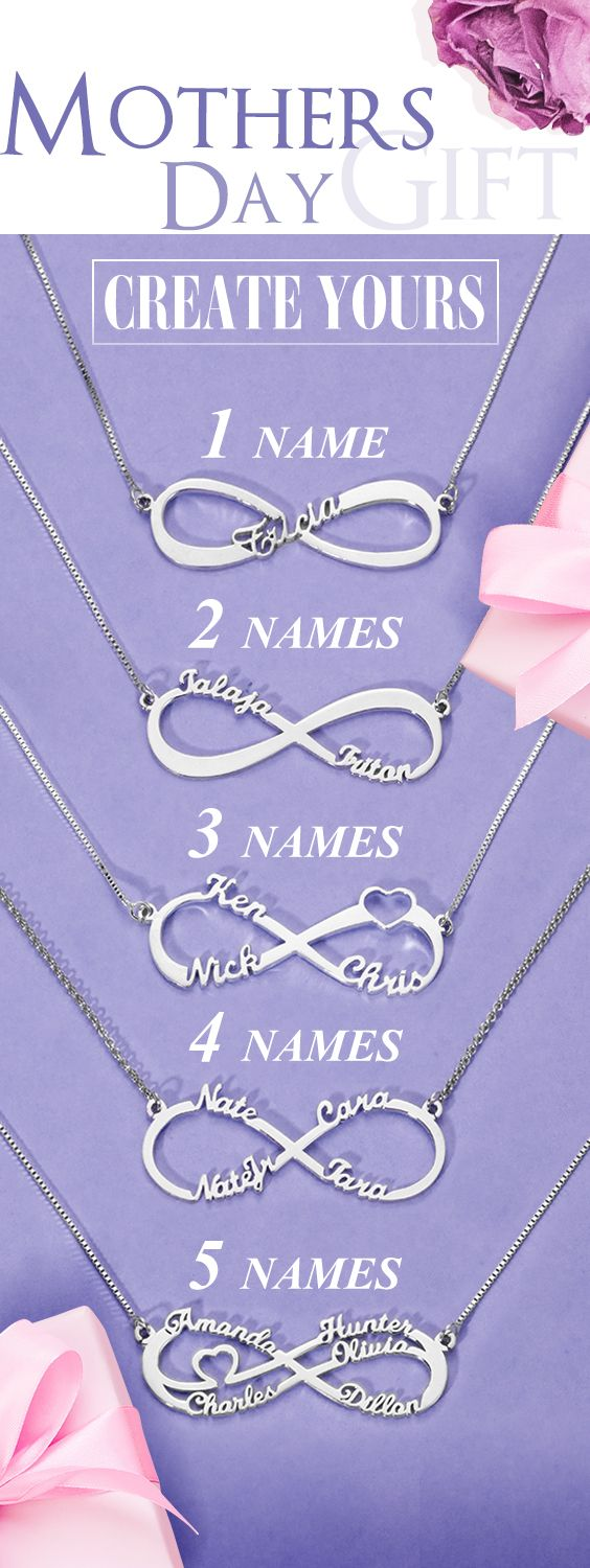 Photo of Personalized Infinity Necklace