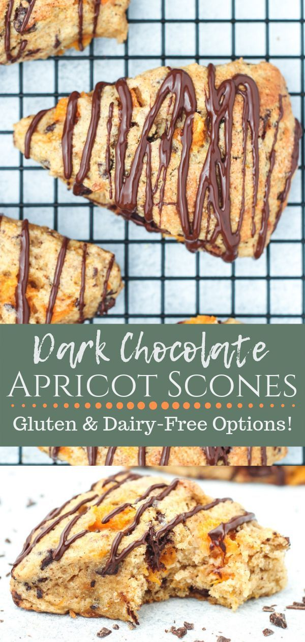 Dark Chocolate Apricot Scones These flavorful Dark Chocolate Apricot Scones are one of my favorite ways to bake with fresh apricots in the summer! Best of all, they use whole wheat flour for a healthy and hearty treat that your whole family will love!