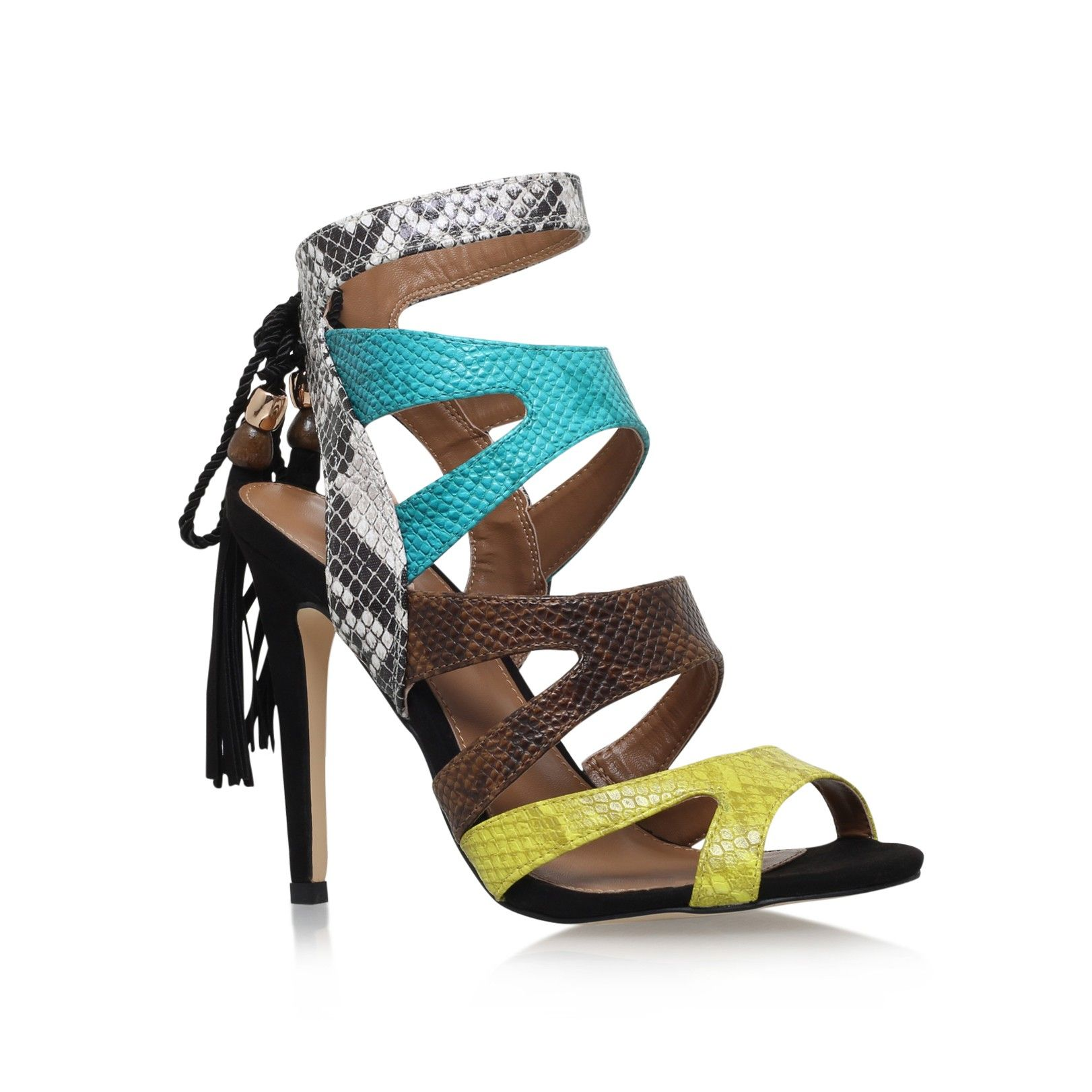 forest green high heel sandals from Miss KG