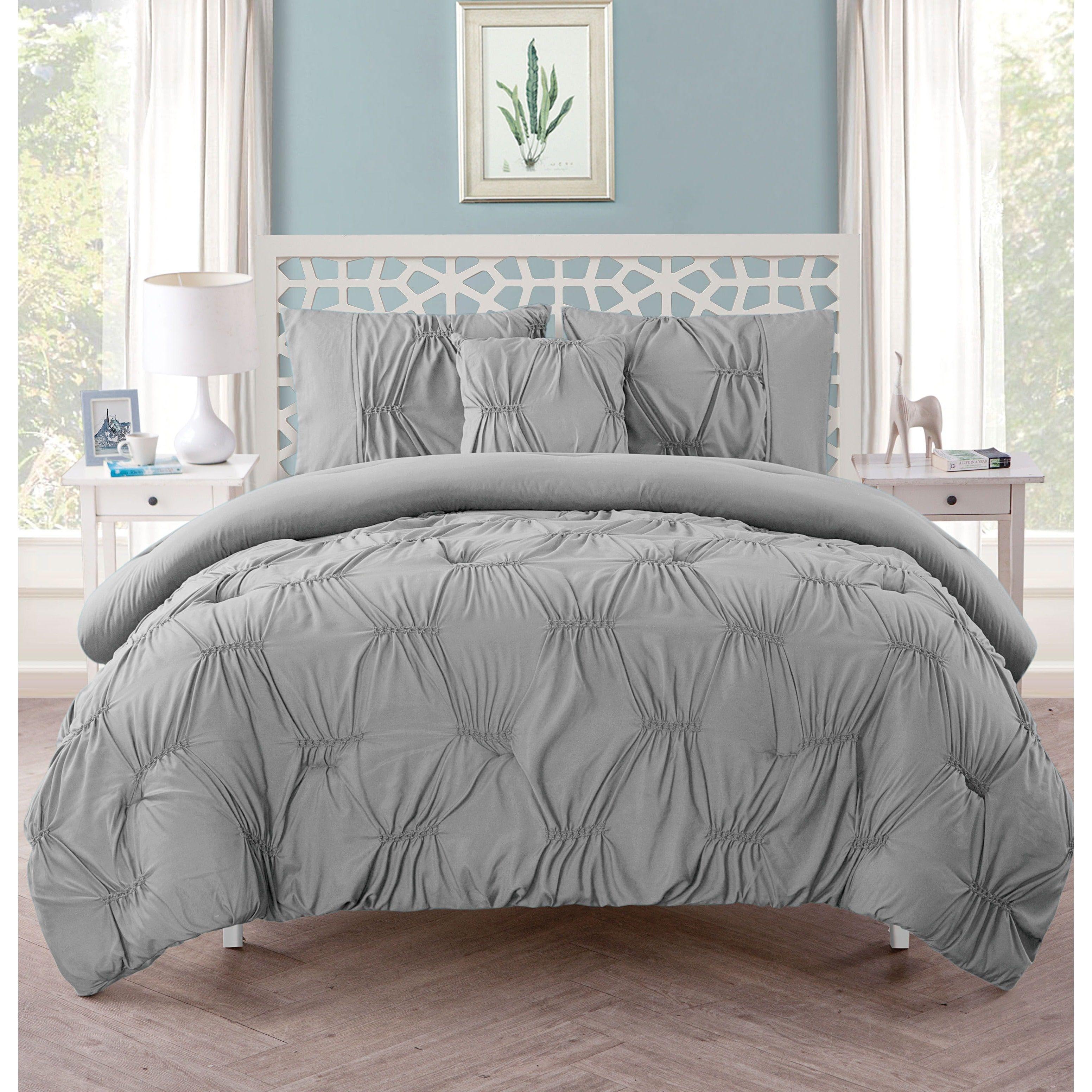 bath product free bedding cotton scene overstock set bed city pleats com piece comforter variegated