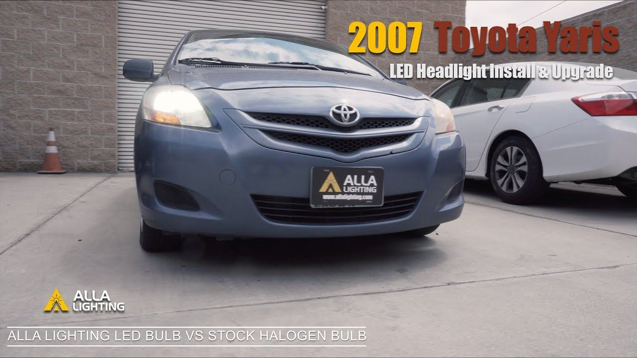 Led Replacement Headlight Bulbs >> Toyota Yaris Led Headlight Bulb Replacement Upgrade Change