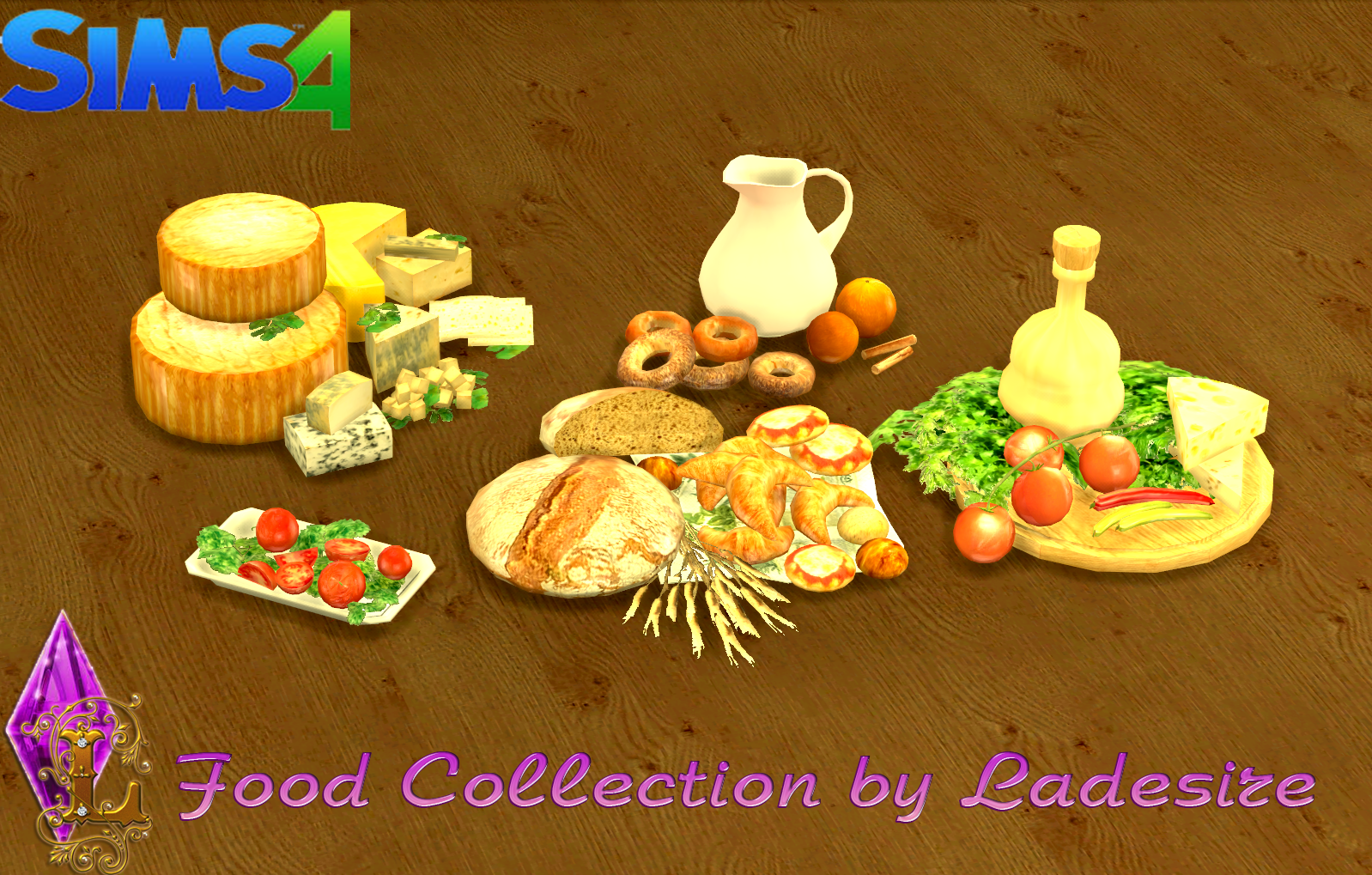 The Sims 4 | Food Collection by Ladesire | buy mode deco kitchen clutter food new mesh