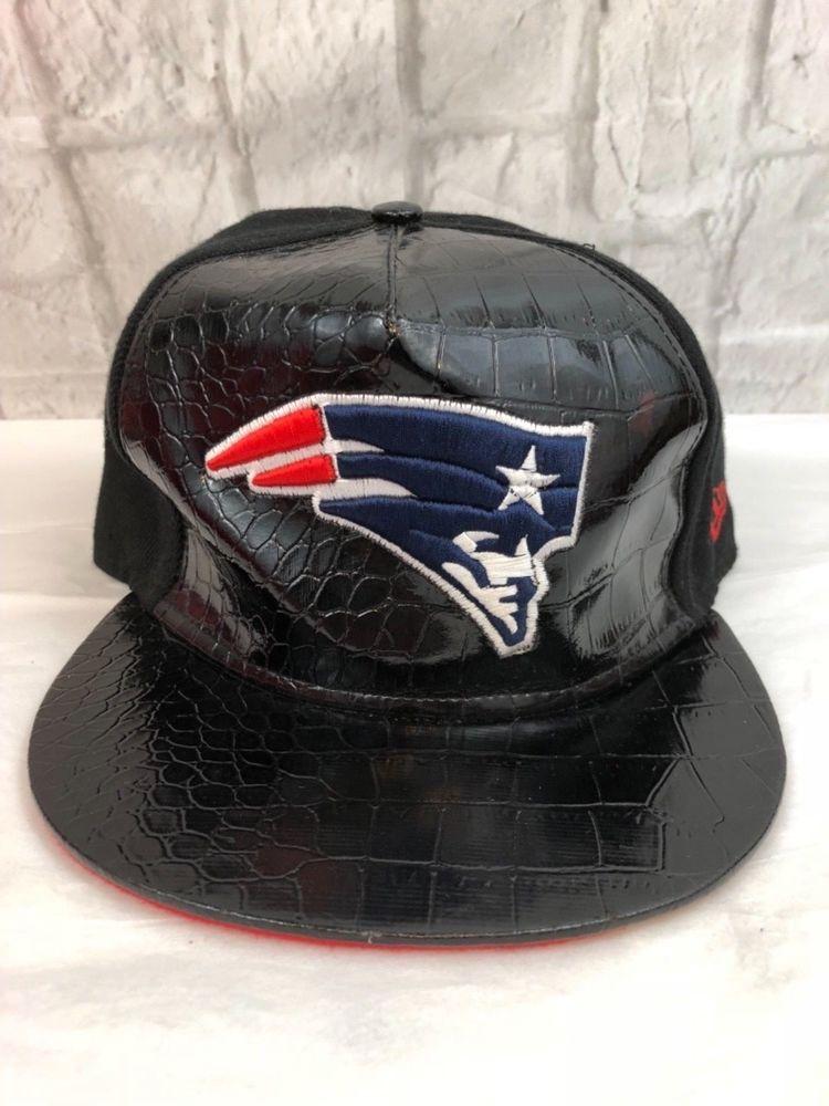 New Era New England Patriots Faux Alligator SnapBack Cap Hat Collectible  ce105b43b