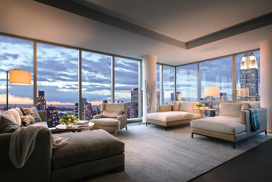 High Rise Apartment Inside $60 million baccarat penthouse and condo with largest private