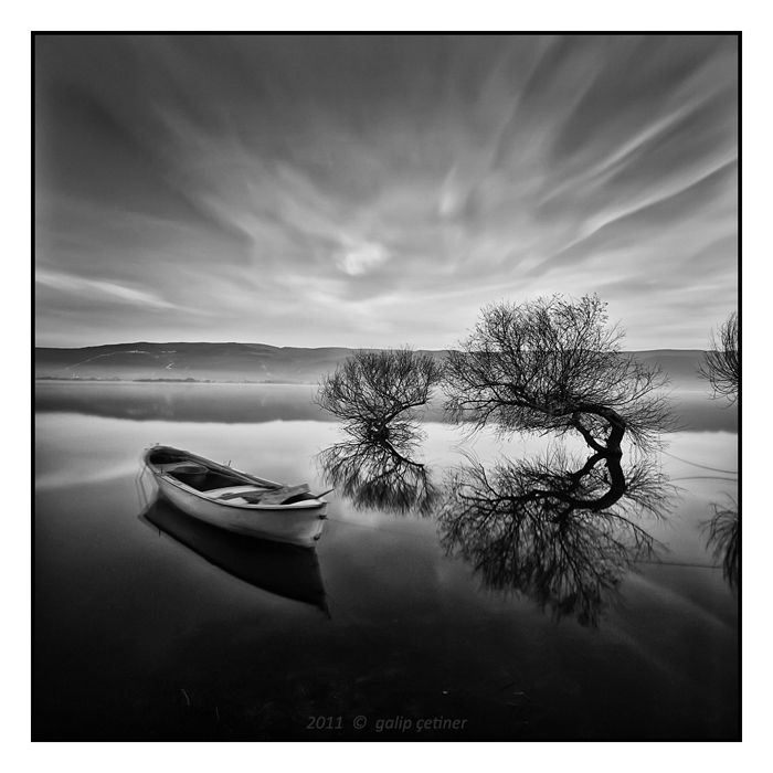 Sky And Lake Black And White Landscape Photography By Galip Cetinerm Black And White Landscape Magical Photography Landscape Photography