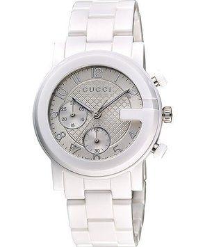 Gucci Ya101353 G Chrono Chronograph Unisex White Ceramic Watch 22 Off Retail Ceramic Watch Gucci Watch Gucci Watches For Men