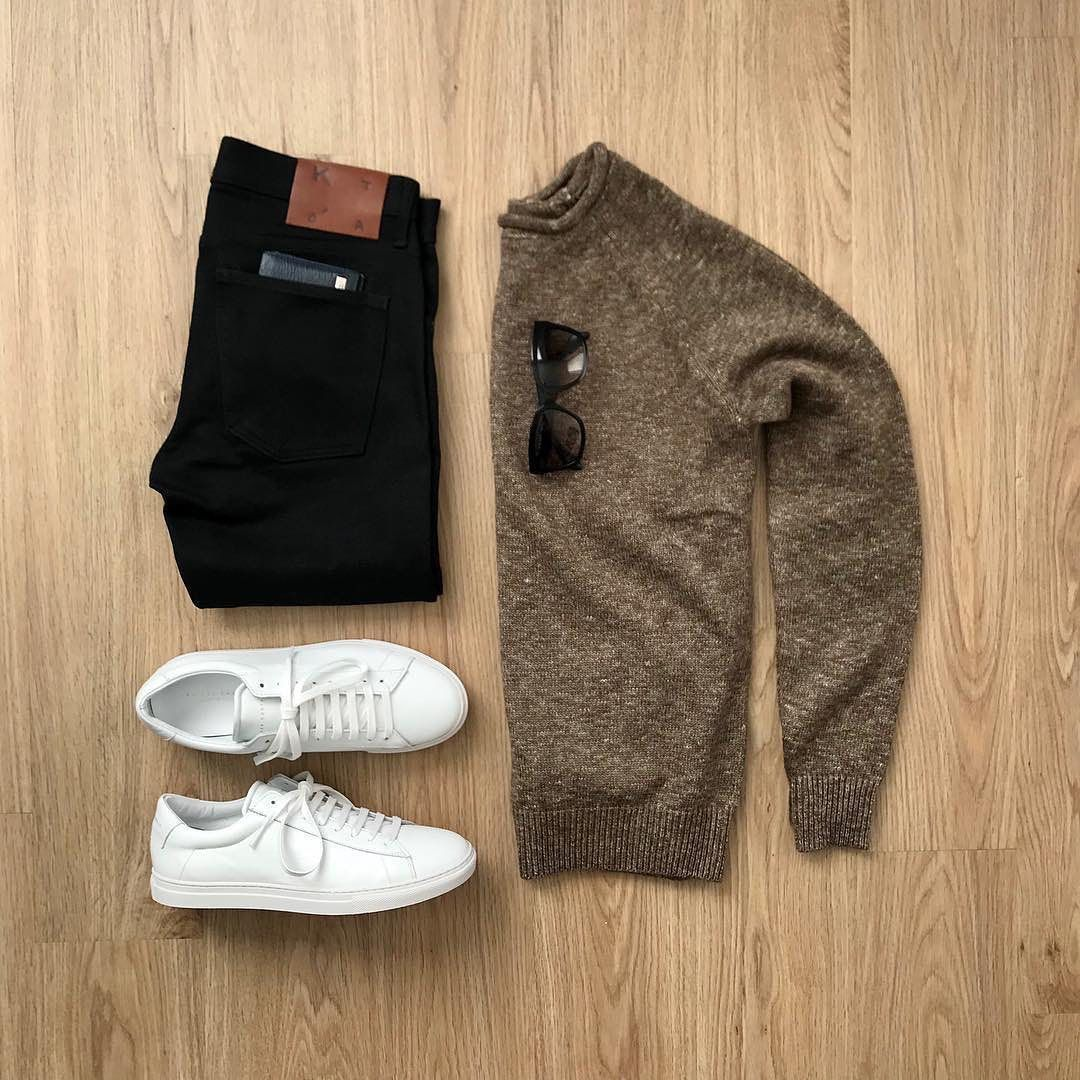 Who is ready for fall Featured is the jachsny Brown Melange Roll Neck Sweater