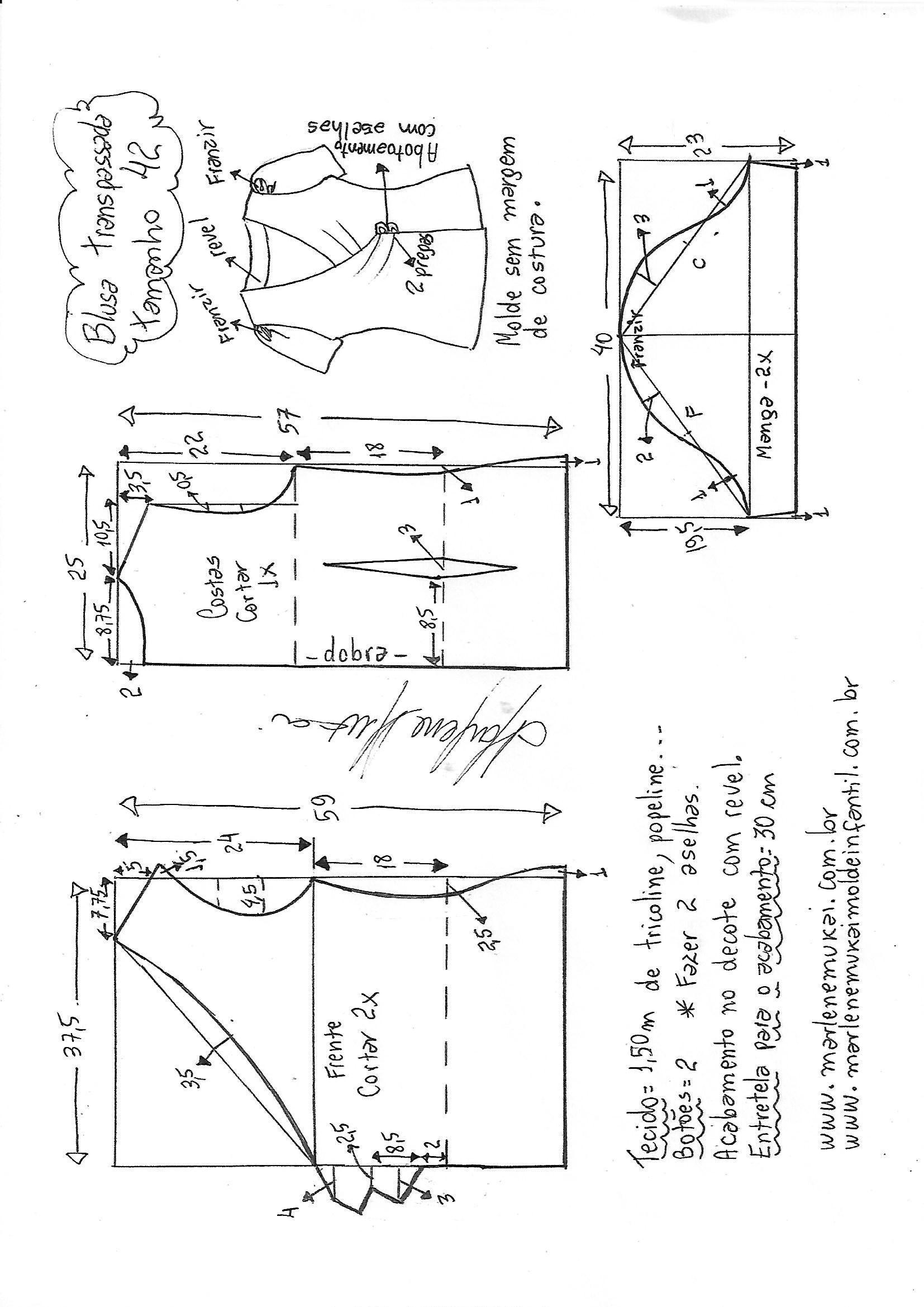 blusa-transpassada-drape-42.jpg (1654×2338)   costurad   Pinterest ...