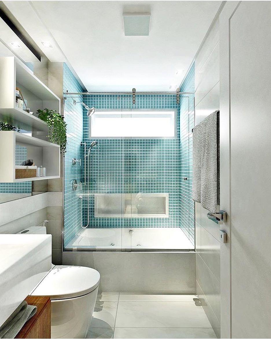 Tima tarde pra voc s com esse banheiro lindo da thayna mendes interiores decoreinteriores - Azulejos pereda ...