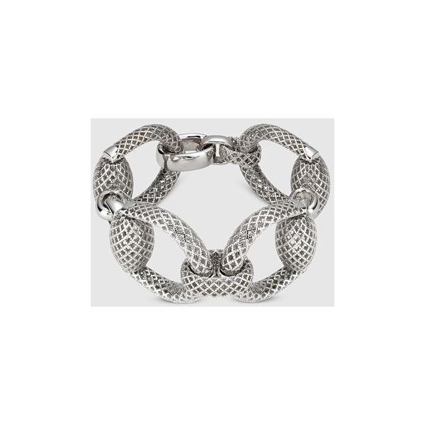 Gucci Horsebit Bracelet In Silver 1 950 Liked On Polyvore