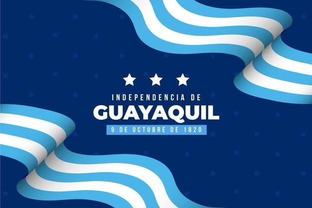 Fondo realista independencia de guayaquil | Vector Gratis