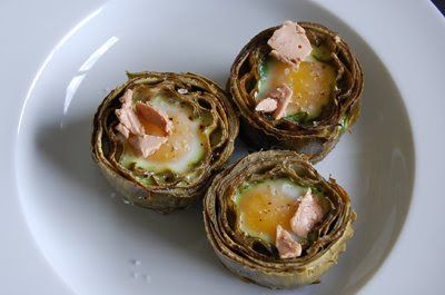 Artichokes Nest with Foie and Quail egg