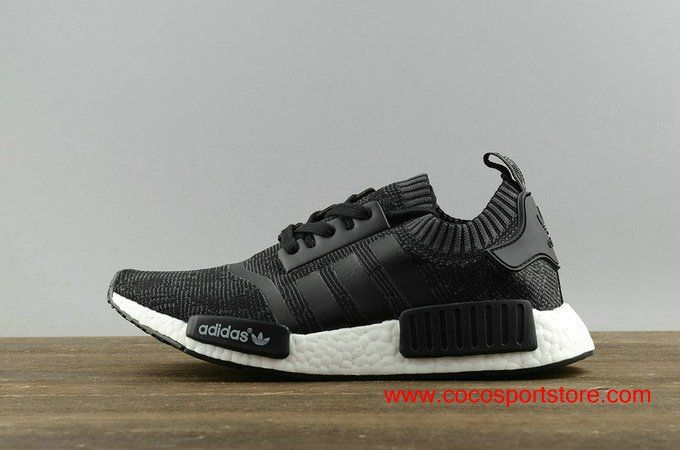 Women s Adidas NMD R1 PK Primeknit Black Grey Noise Originals ... eb4ec20569