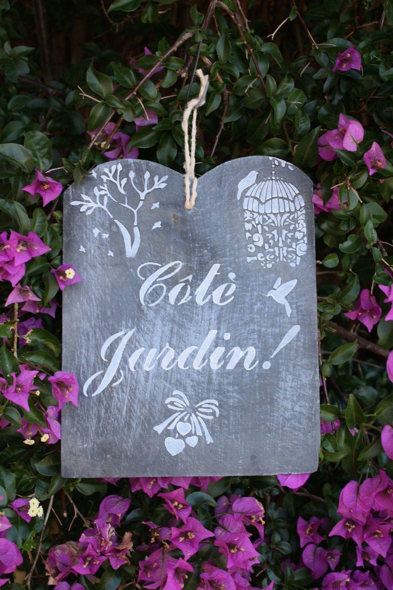 Slate Sign Decorative Slate Garden Decoration Plaque De Porte Deco Ardoise
