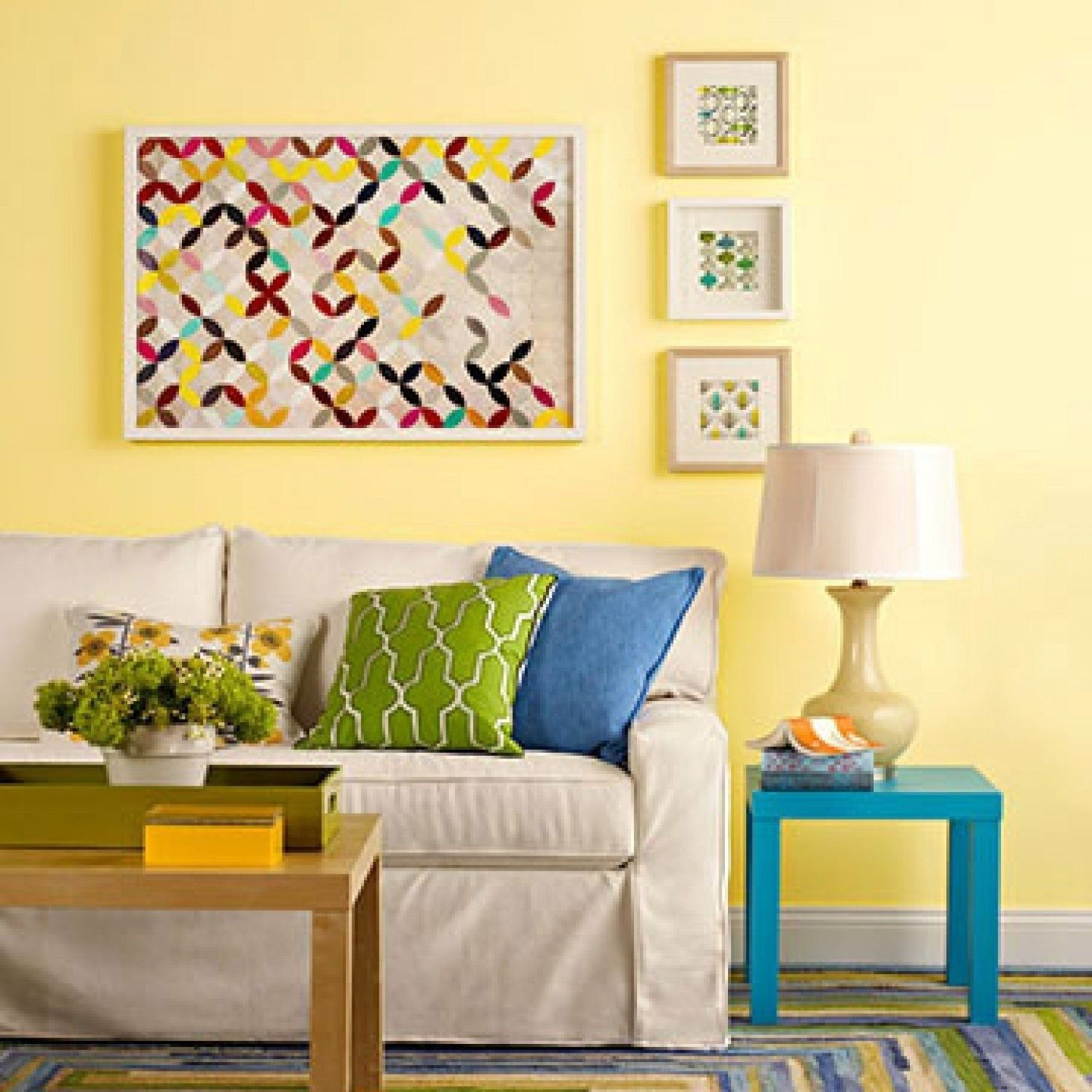 Comfy Colorful Living Room And Remodel Decor Ideas For Summer39 Yellow Walls Living Room Yellow Living Room Living Room Color Schemes Yellow background living room