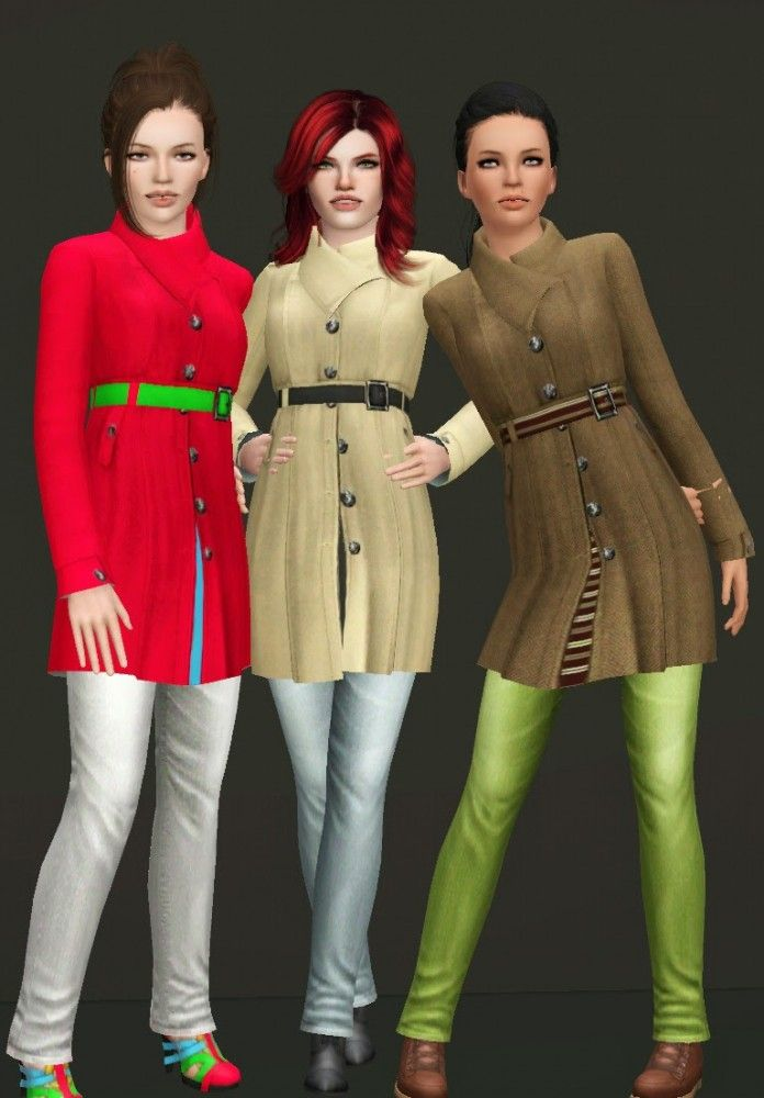 Open Coat with Jeans by NyGirl Sims - Sims 3 Downloads CC