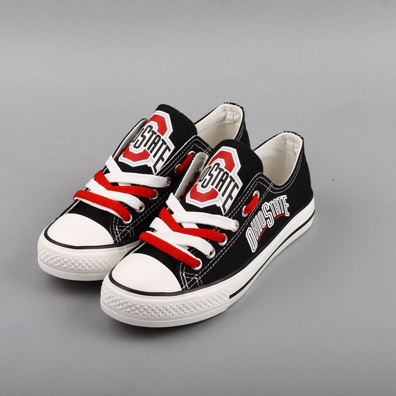 Ohio State Buckeyes Limited Print NCAA College Students Low Top Canvas Shoes Sport ...