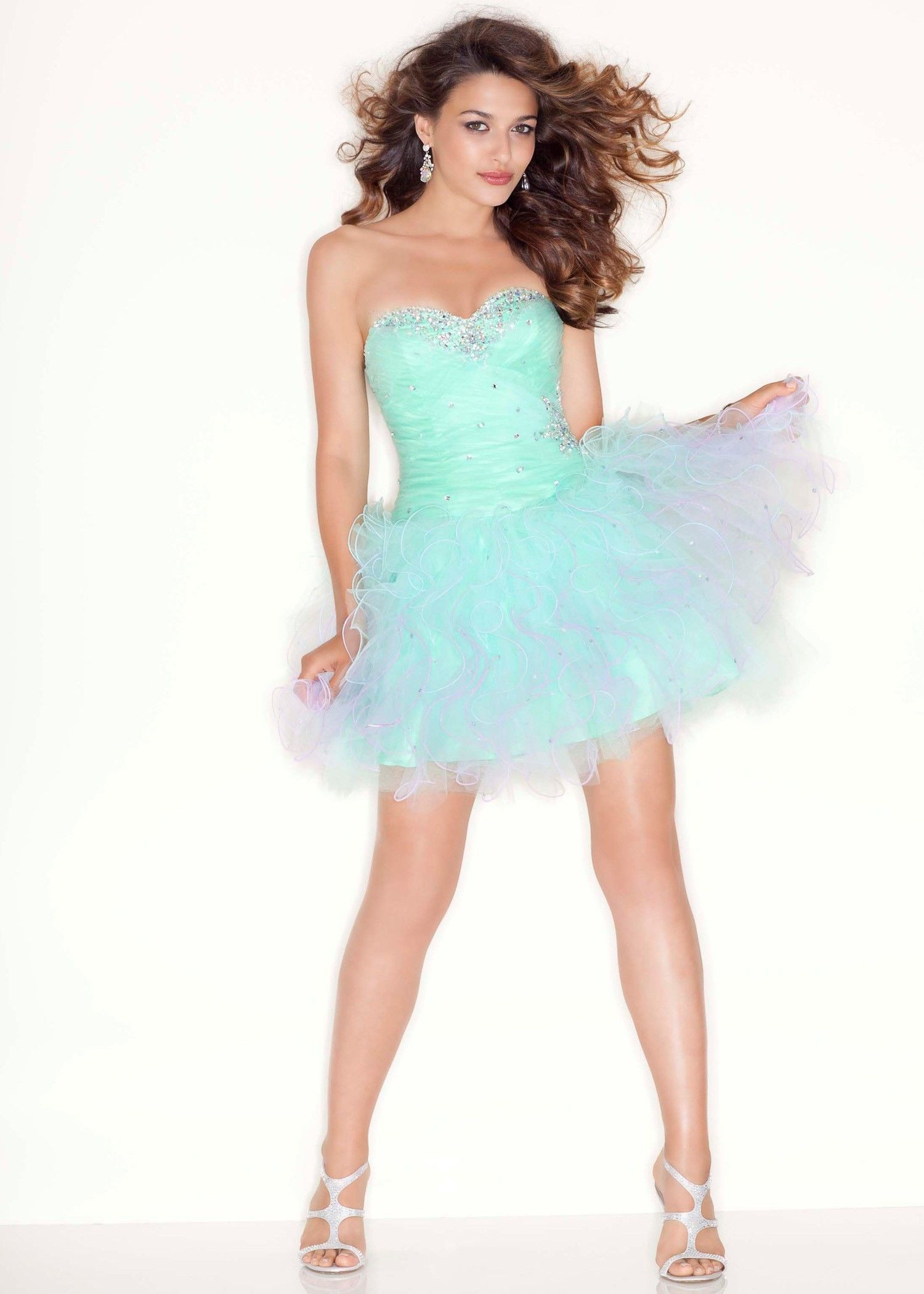 PRETTY Sorbet Green Ombre Short Prom Dress - Sticks and Stones ...