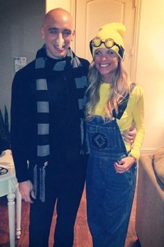 Couple Halloween costume Despicable Me Gru and Minion.  sc 1 st  Pinterest & Minion Costumes on Pinterest | Halloween | Pinterest | Costumes ...