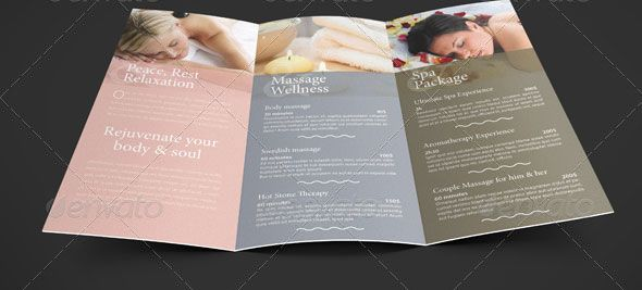 Spa Menu Template   Google Search Idea
