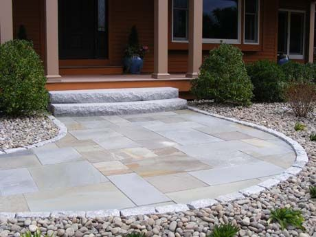 Radius Woodbury Gray Steps Natural Stone Pavers And
