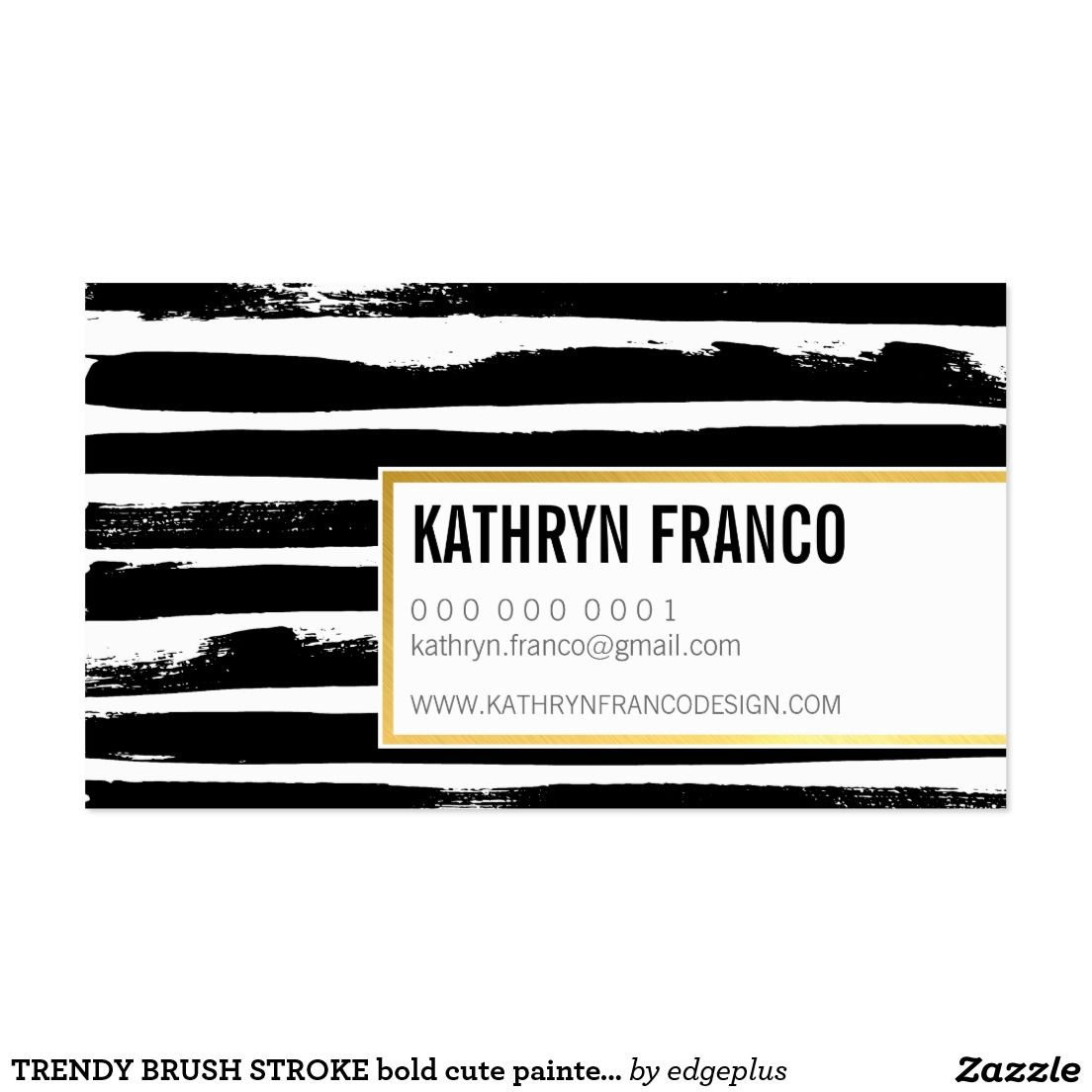 Trendy brush stroke bold cute painted black gold business card trendy brush stroke bold cute painted black faux gold foil effect business card setup as magicingreecefo Images