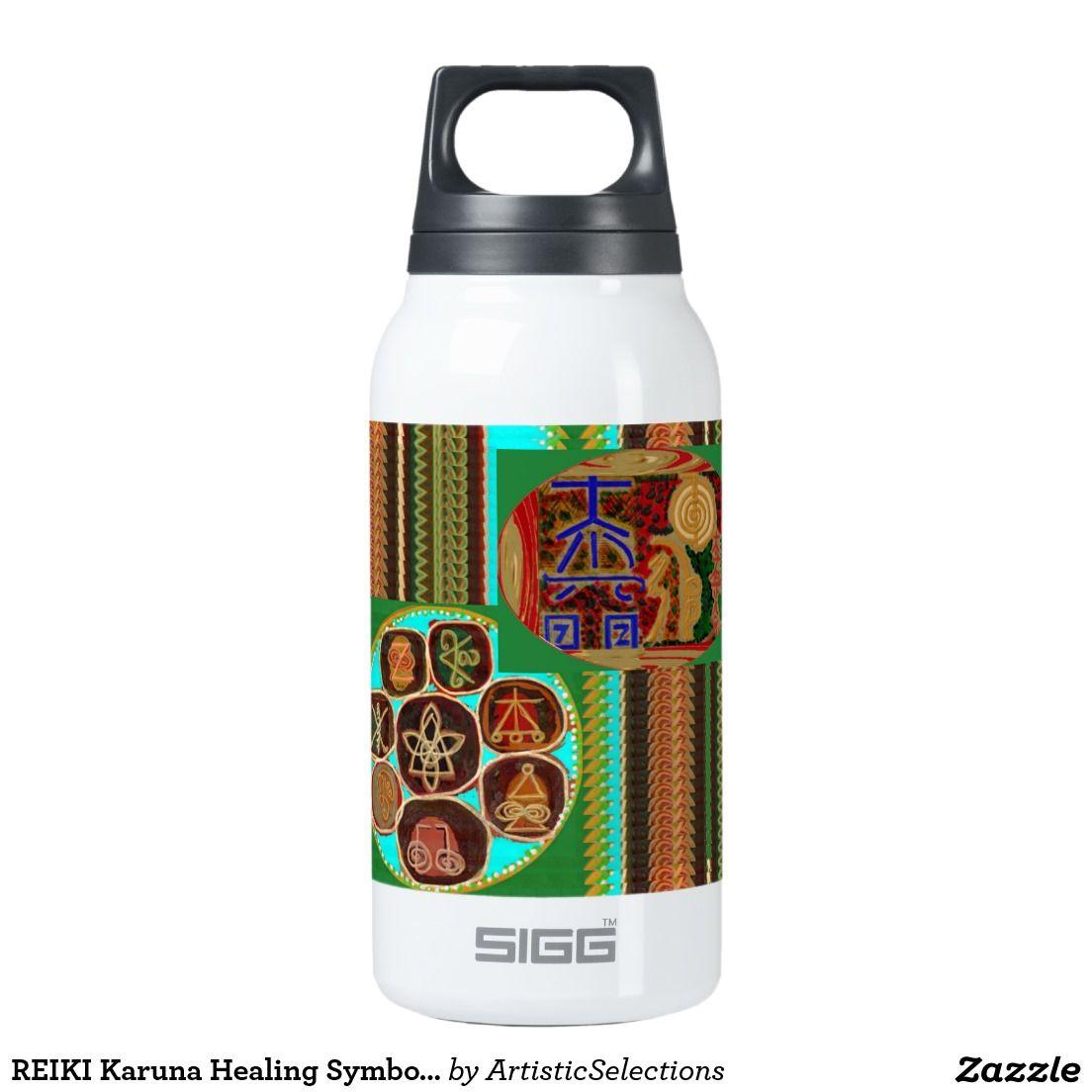 Reiki Karuna Healing Symbols Vintage Care 99 Thermos Water Bottle