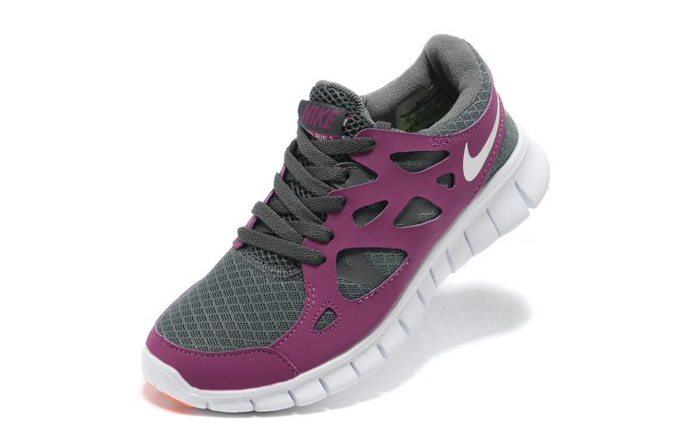 more photos 4c844 b4375 Femme Free Run 2 Chaussures Grises Violet