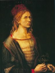 Albrecht Dürer - Self-portrait at 22 (Selfportrait with flower) 1493