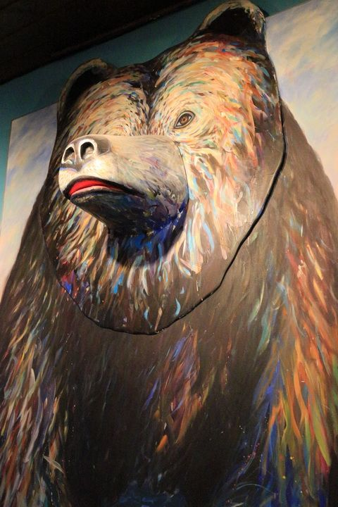 There Is A Very Nice Bear Art Sculpture On The Wall At Henrys Great
