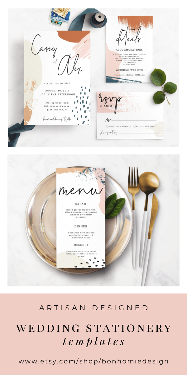 Modern Wedding Invitations With Pictures
