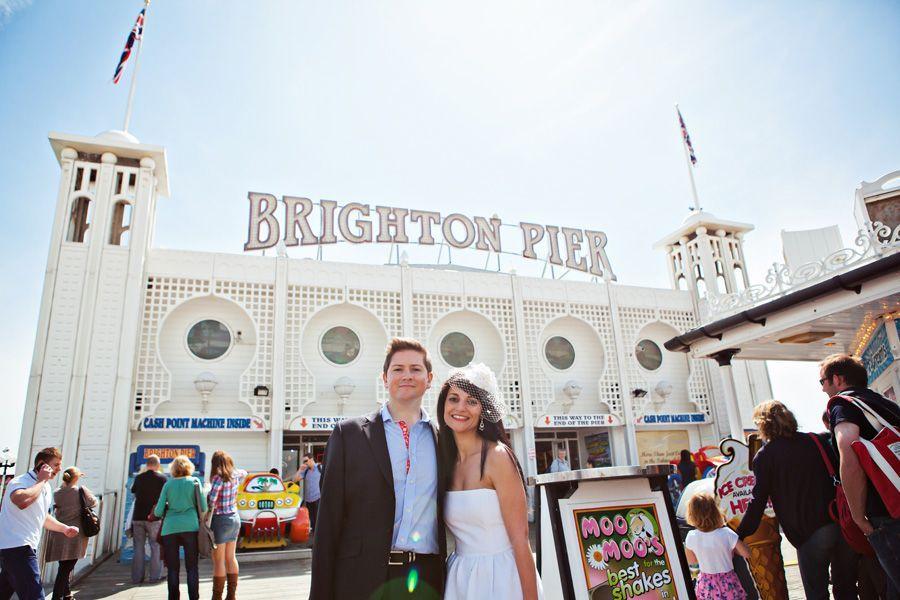 A Beach English Themed Brighton Pier Pavilion Wedding Rocio Paul Part One