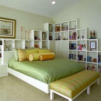 Diy Shelf Headboard useful in every room of the house, modular shelving units in the