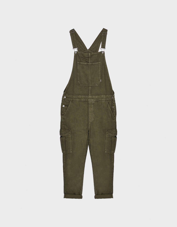 Peto Largo Cargo Pantalones Bershka Honduras Pantalones Bershka Pantalones Ropa Retro