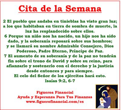 Cita de la Semana (7-Dec-2014) #Navidad