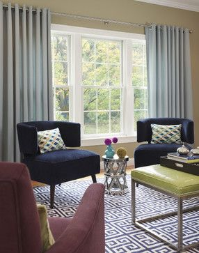 Modern Living Room Window Treatments For Large Windows Design