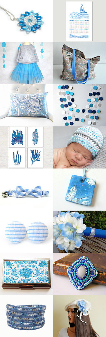Light blue finds by PikLus on Etsy--Pinned with TreasuryPin.com