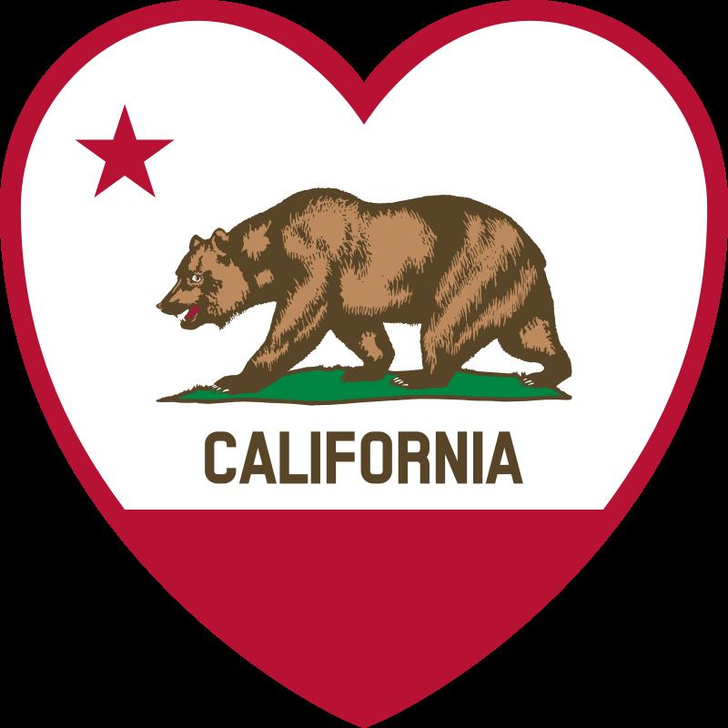 Clipart California Flag Heart California Flag Clip Art Flag