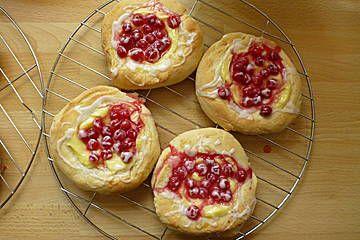 Pudding - Hefeteilchen