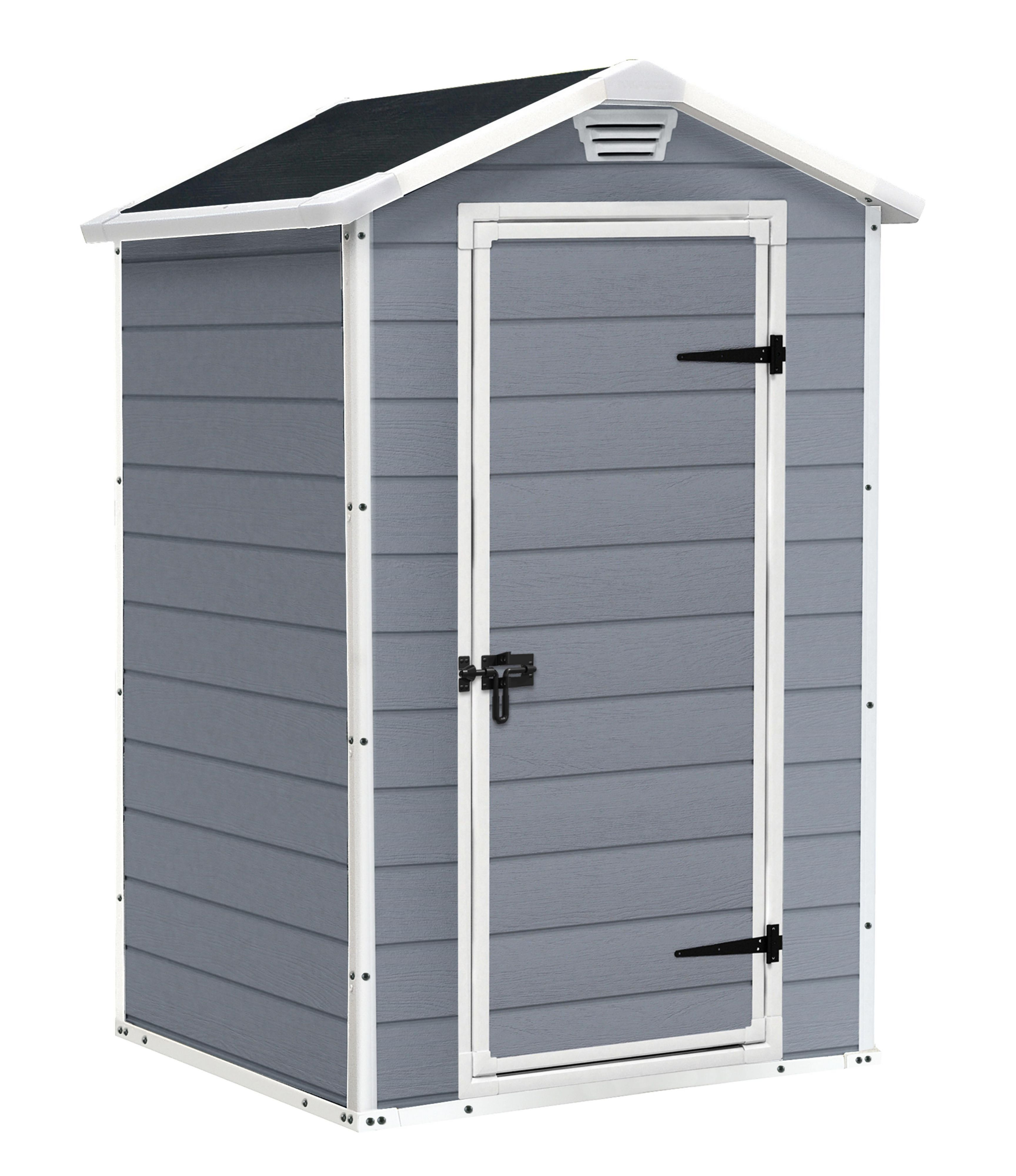 4x3 Manor Apex Plastic Shed Base Included B Q For All Your Home And Garden Supplies And Advice On Al Garden Storage Shed Outdoor Garden Storage Plastic Sheds