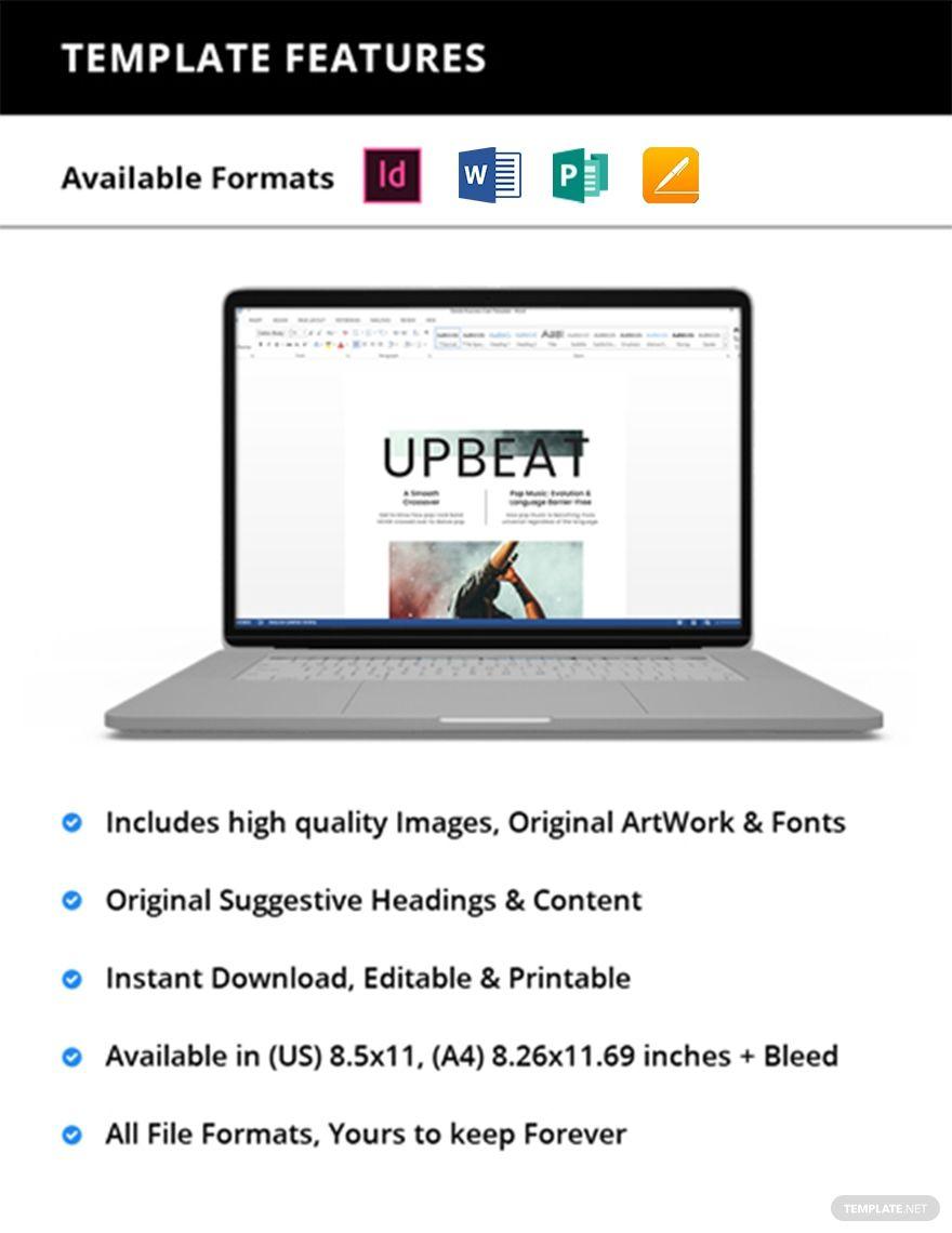 Free Simple Music Magazine Template #AD, , #sponsored, #Simple, #Free, #Music, #Template, #Magazine
